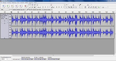Soundtrack in Audacity